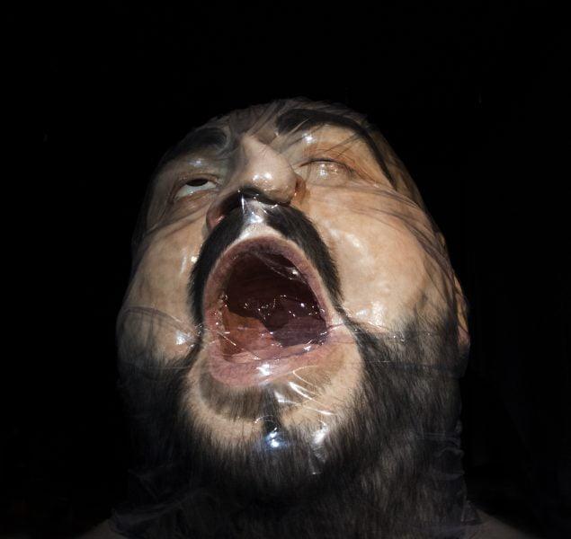 Asphyxia Hyper realistic sculpture Zharko Basheski